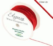 1mm x 50m Wired Designer Cord Red